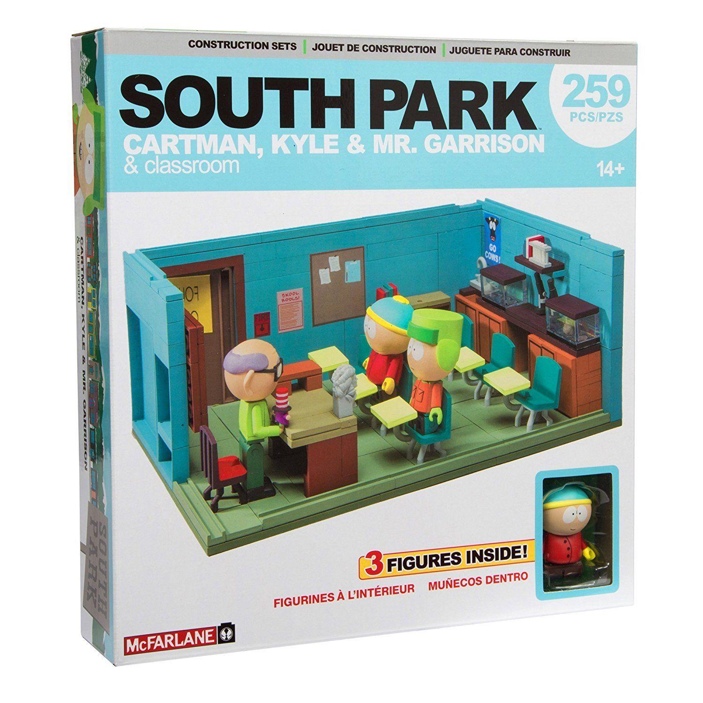 GARRISON KYLE CARTMAN with CLASSROOM  CONSTRUCTION SET McFarlane South Park MR