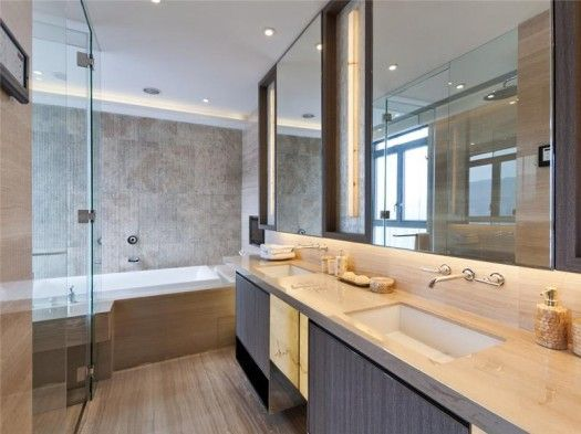 Small Bathroom Design Hong Kong contemporary skyscraper apartment interior in tai hang, hong kong