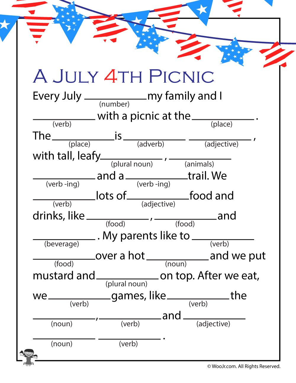 Printable 4th Of July Mad Libs For Kids Woo Jr Kids Activities 4th Of July Games 4th Of July Trivia July Game [ 1294 x 1000 Pixel ]