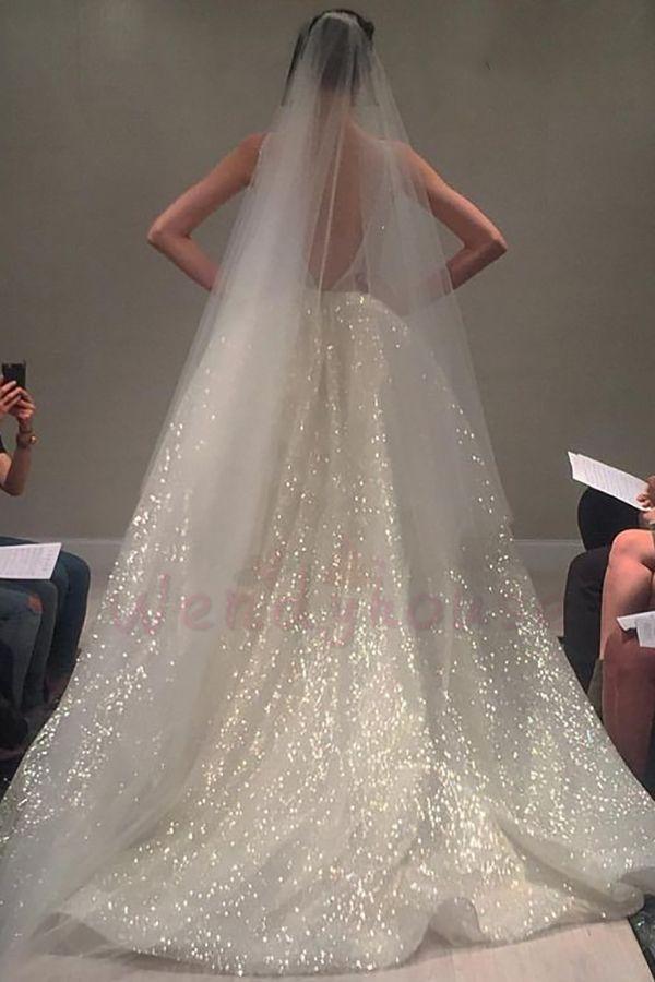 #Ballkleid #Brautkleid #Ivory #langes #Sparkly #von