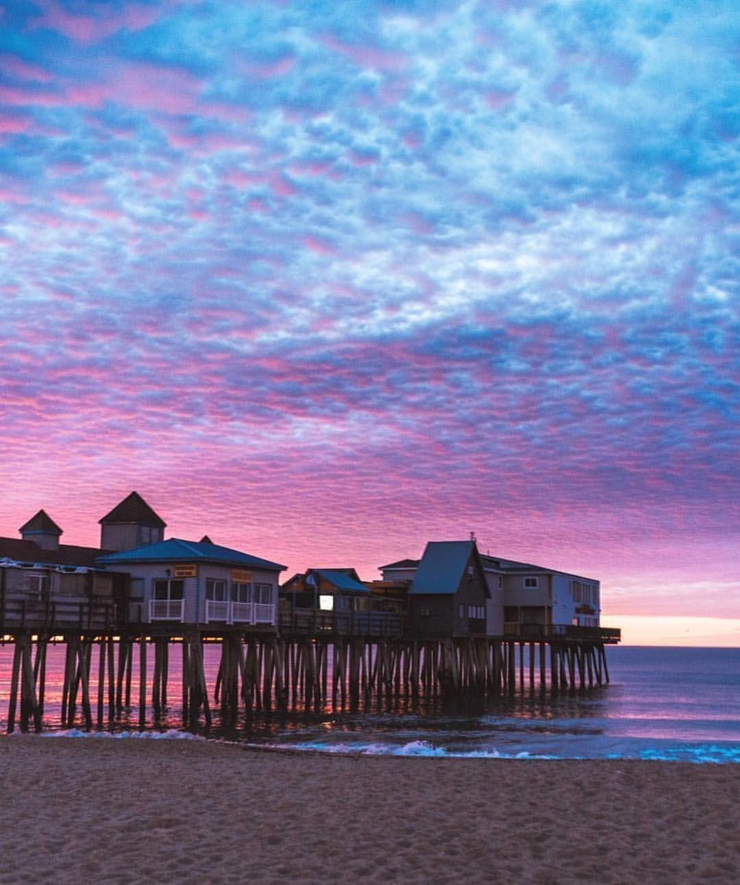 Old Orchard Beach, Maine We Love A Cotton Candy Sky