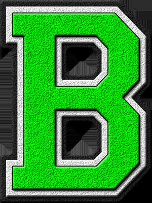 Presentation Alphabets Kelly Green Varsity Letter B Disney Alphabet Monogram Alphabet Alphabet