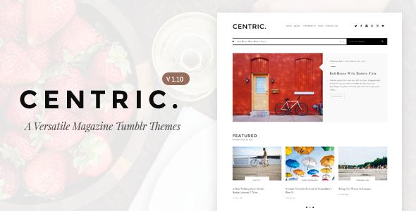 centric a versatile tumblr theme template