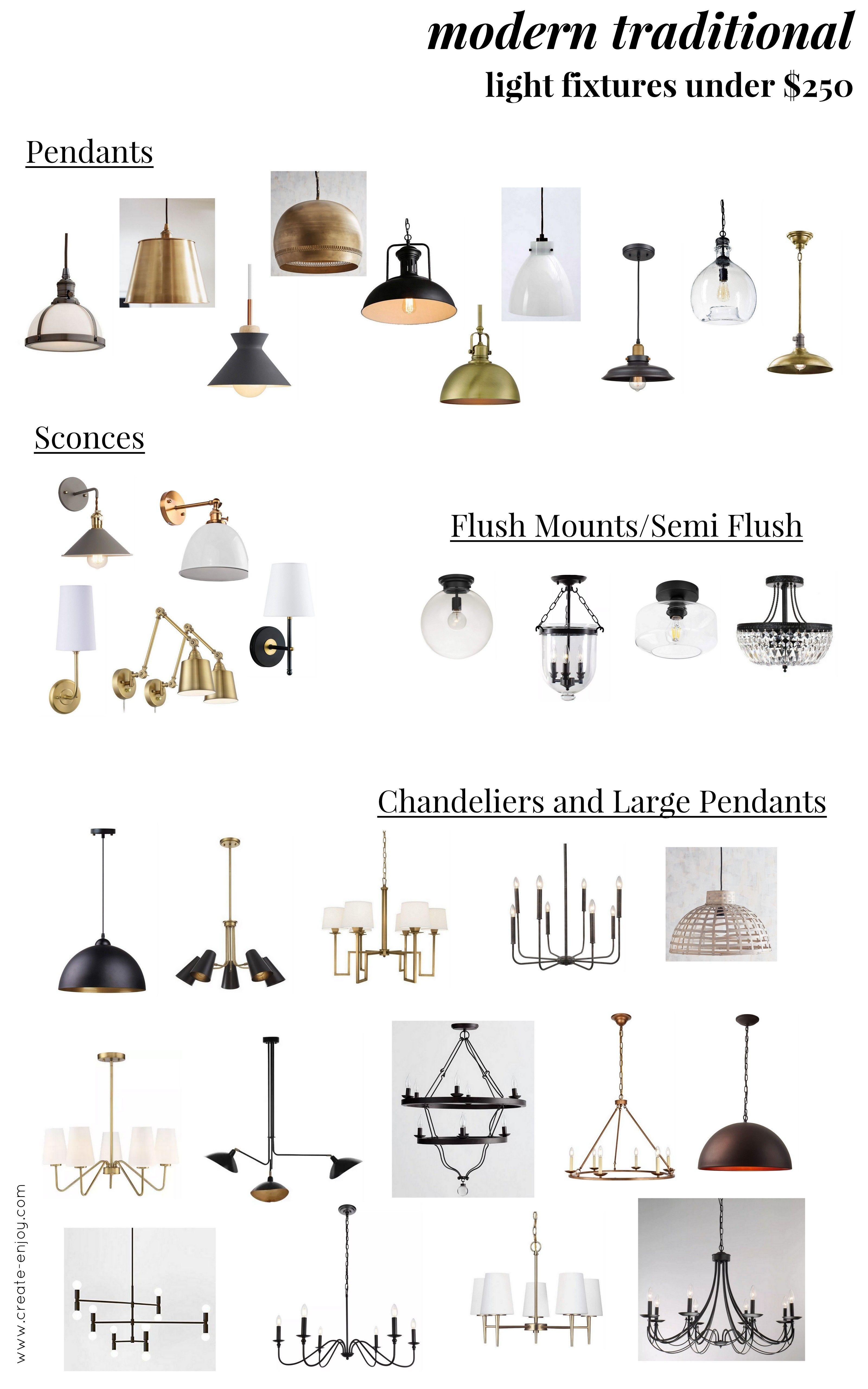Great Modern Traditional Lighting Fixtures Under 250