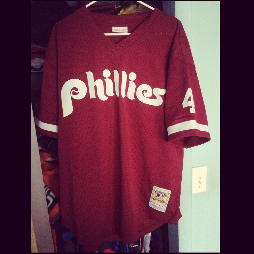 be31eca47 ... coupon one of my favorite mlb players growing up ldykstra phillies  batting practice jersey 08079 35225
