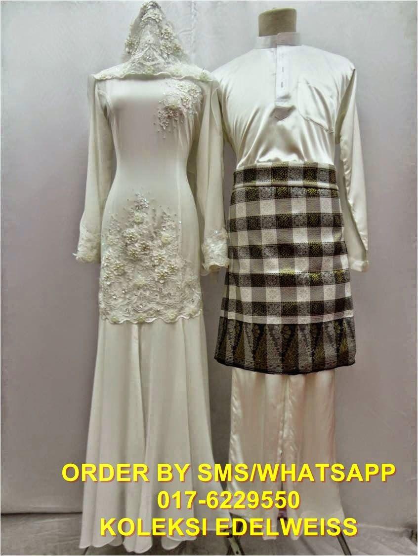 KOLEKSI EDELWEISS: Baju Pengantin Bajet-Set Baju Melayu dan Dress