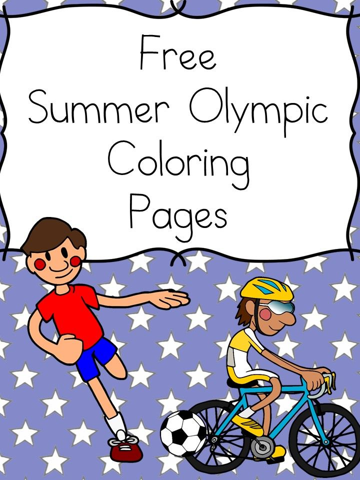 Summer Sports Coloring Pages Sports coloring pages