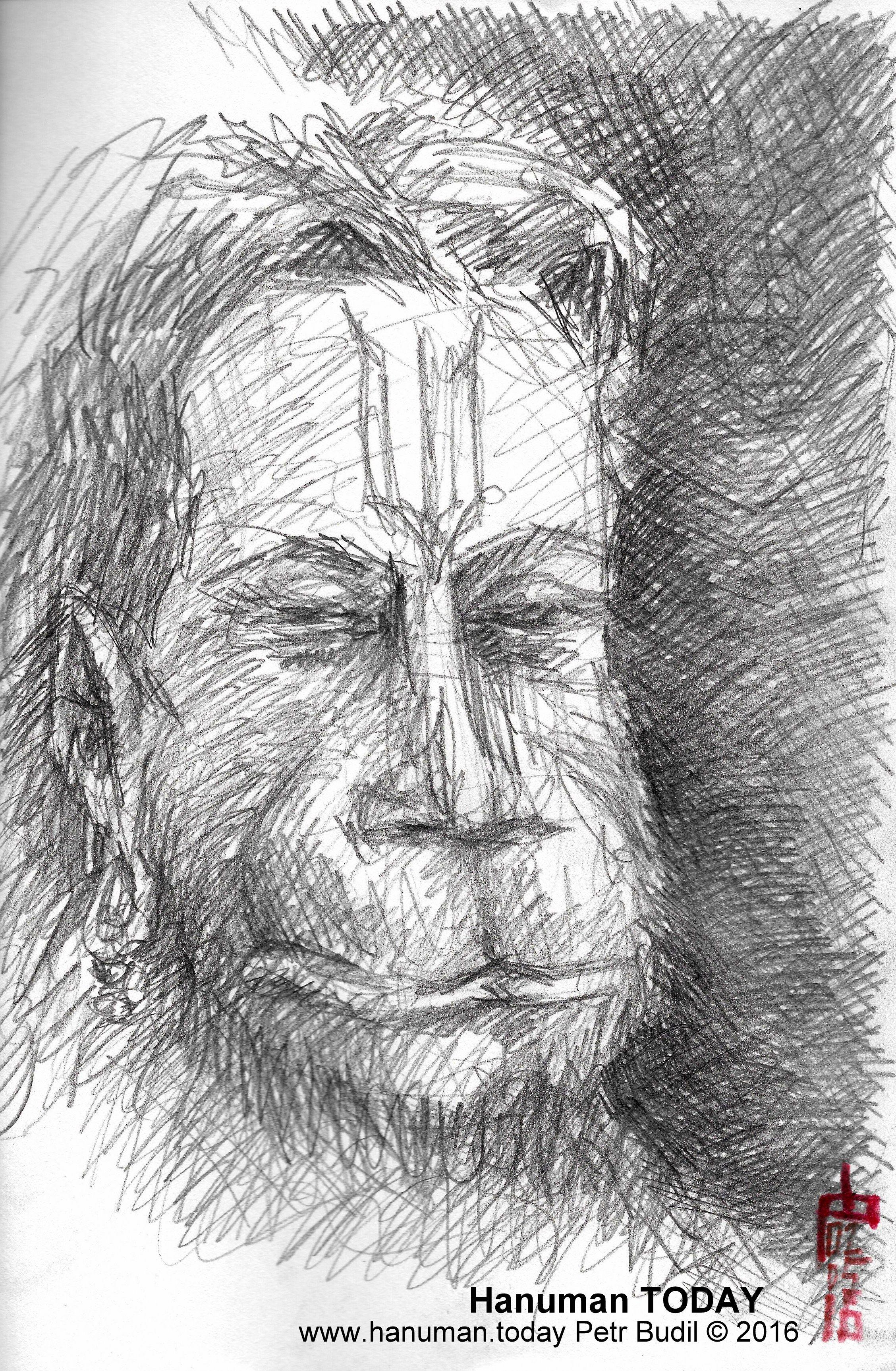 Monday, May 2, 2016 | Hanuman - Pencil | Hanuman, Drawings ...