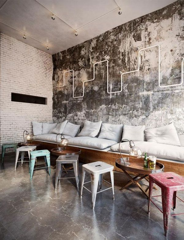 We Could Possibly Make The Cushions For A Low Cost And Industrial CafeIndustrial DesignIndustrial InteriorsIndustrial