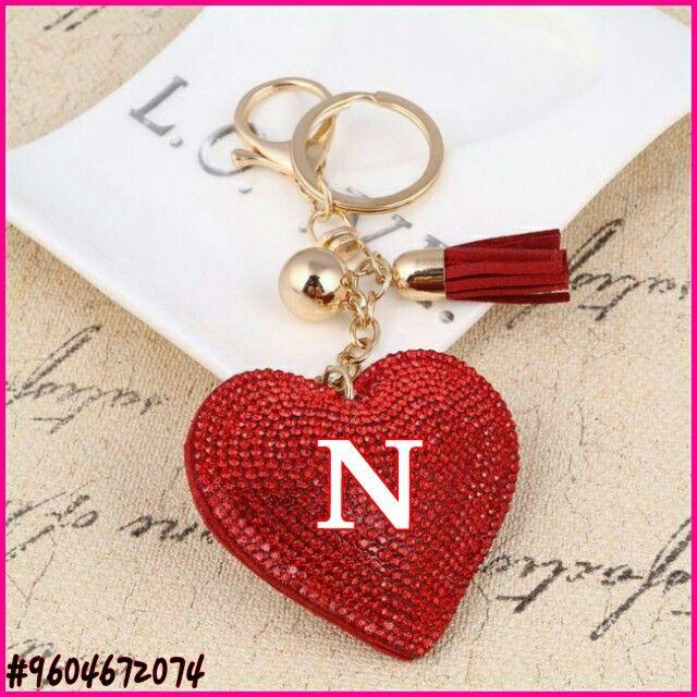 Love heart N.   Stylish alphabets, Alphabet style, Love heart