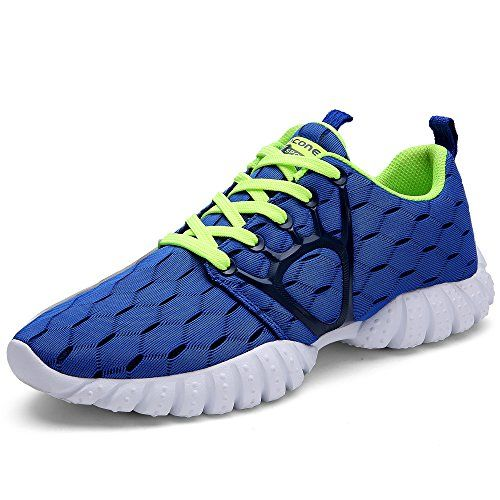 Aleader Men's Mesh Cross-traning Running Shoes Blue 10.5 D(M) US * Click image for more details.