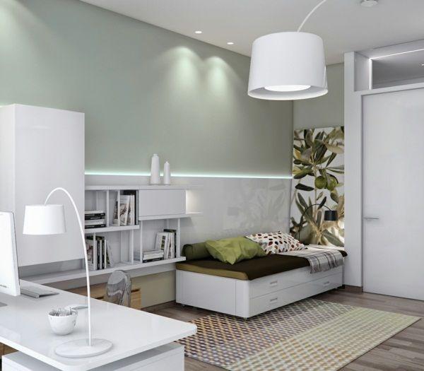 white kombi travel desk and sofa bed Wohnzimmerfarben