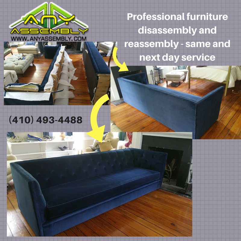 We Offer A Variety Of Furniture Disassembly And Reassembly Services Surprisingly One Of Our Popular Offerings Is Sofa Disassembly Sofa Disassembly Furniture