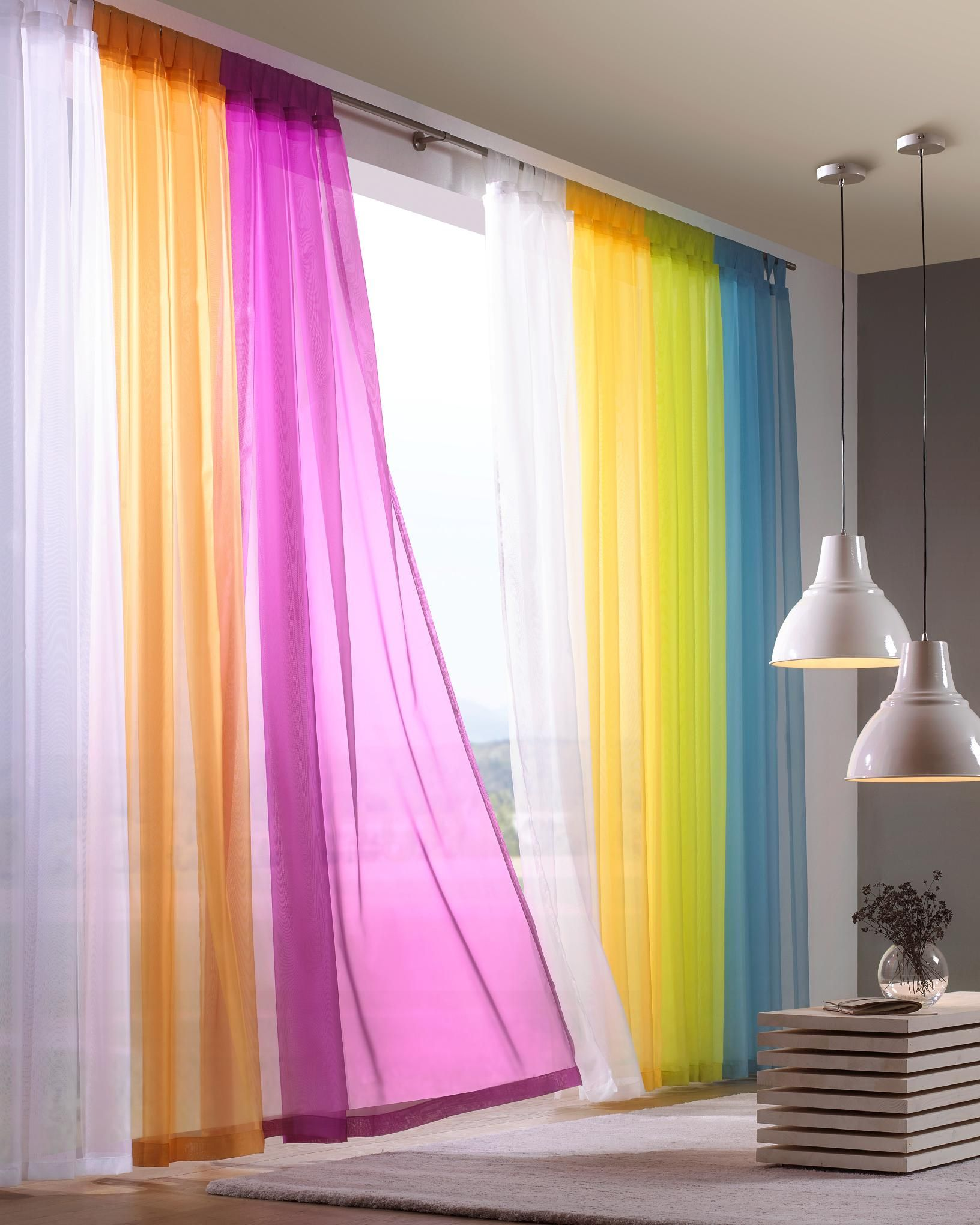 Schlaufenvorhang Transparent Online Kaufen Xxxlutz Wohnzimmer Dekor Modern Wohnzimmer Bunt Vorhange