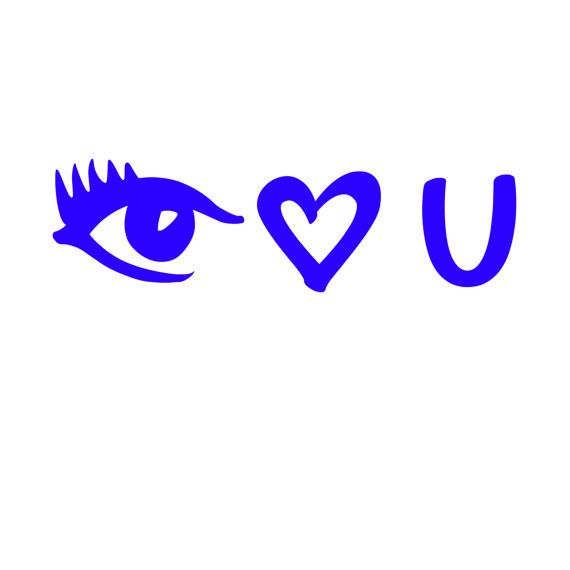 I Eye Love You Vinyl Decal Valentines Decal Custom Made Chose - Custom made vinyl decals