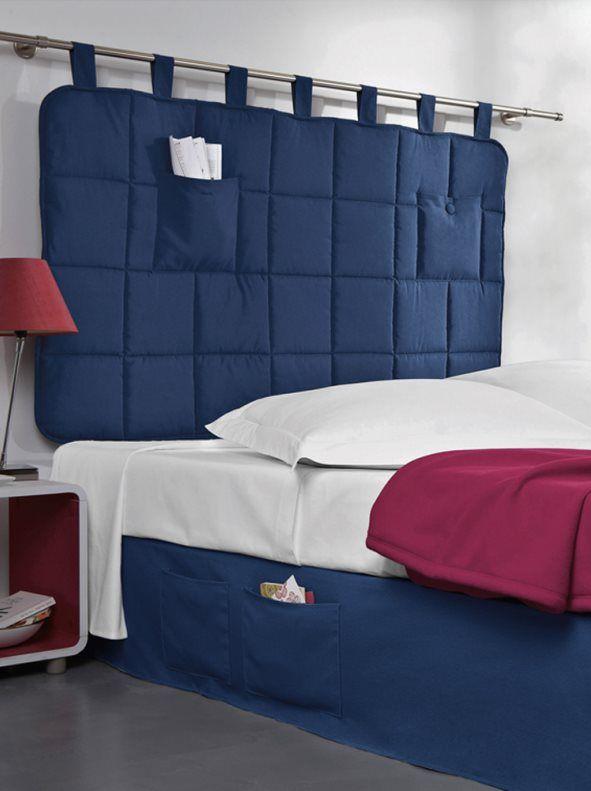 Cabezal cama acolchado con trabillas d co camas camas - Cabeceros acolchados cama ...