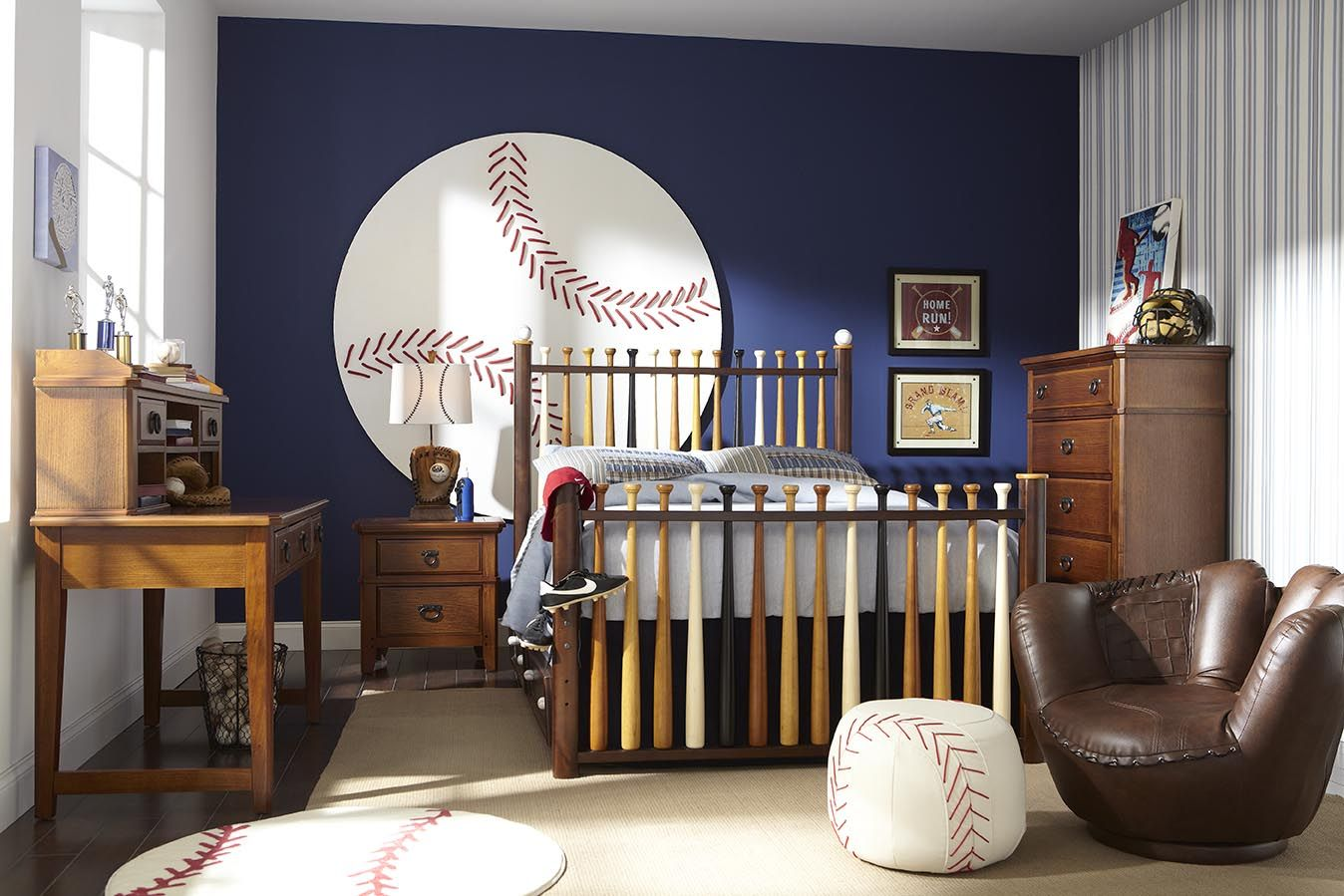 I Think This Would Be My Husband S Dream Room Baseball Themed Bedroom Themed Kids Room Baseball Bedroom