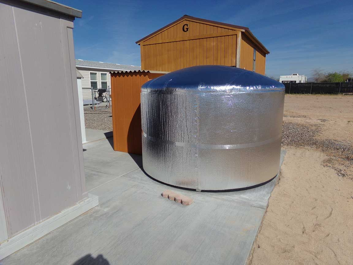 Insulating 1500 Gallon Outdoor Water Tank Customer Project In The Arizona Heat Water Tank Bubble Insulation Bubble Foil Insulation