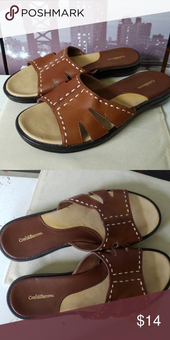Croft \u0026 Barrow sandals   Brown leather