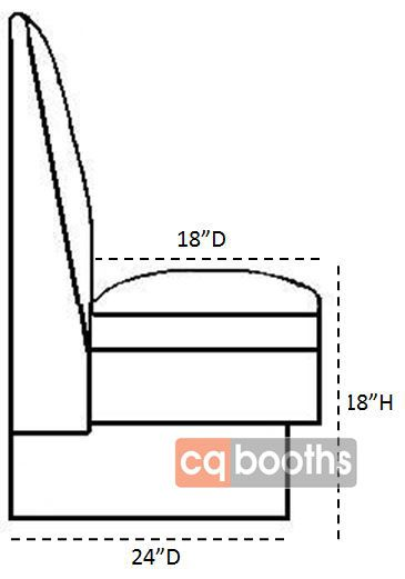 Seat Size With Dimensions Cheat Sheet Banquette