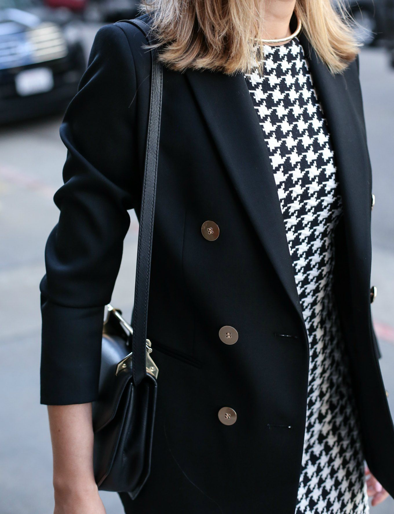 Houndstooth Sheath and Double-Breasted Blazer - MEMORANDUM, formerly The Classy CubicleMEMORANDUM, formerly The Classy Cubicle
