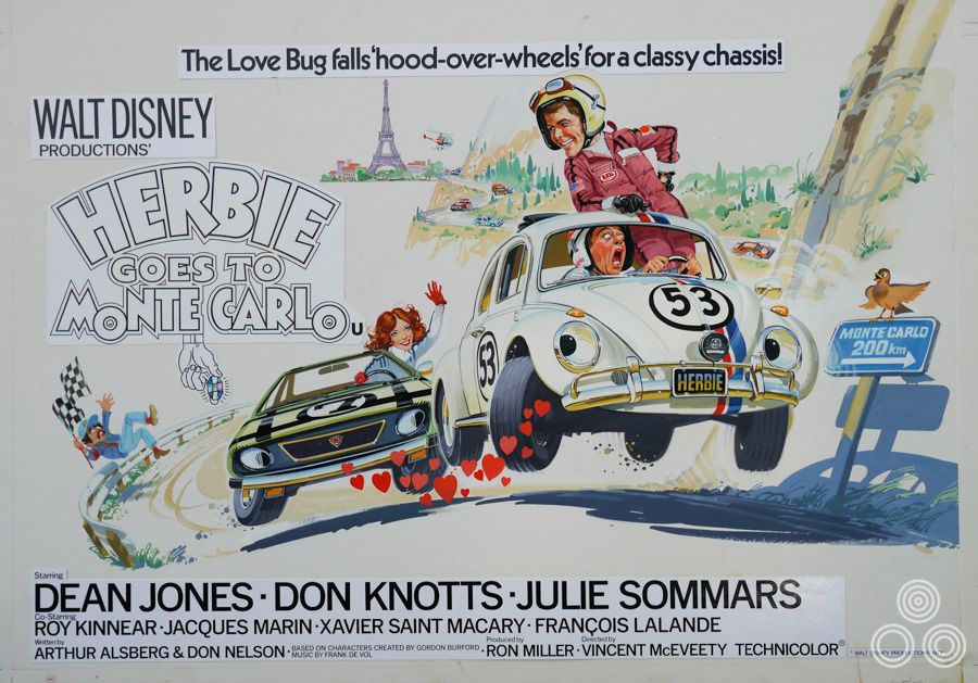Herbie Goes to Monte Carlo | Disney movie posters, Disney posters ...