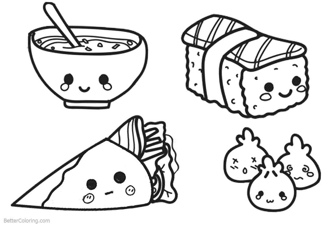 51 Coloring Page Of Food Food Coloring Pages Cute Coloring Pages Coloring Books