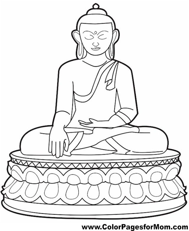 Buddha Coloring Page Color Pages For Mom Coloring Book Pages