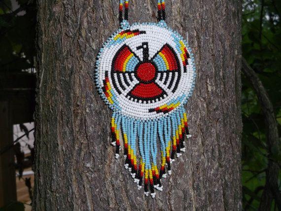 Thunderbird necklace,native american, pow-wow, beadwork | native ...