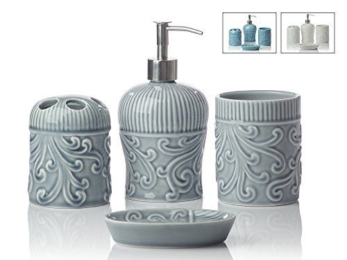 Designer 4Piece Ceramic Bath Accessory Set Includes Liquid Soap or on soap dispensing dish sponge, soap and hand towel set, soap container, soap and toothbrush holder set, mason jar storage set, soap dish set red, soap dish bed bath beyond, kitchen sink with soap lotion caddy set, soap and towel dispenser keys, soap and sponge, soap dispenser and toothbrush holder, soap lotion toothpaste,