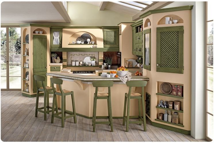 cucina country in muratura | Kitchens | Pinterest | Cucina, Credenza ...