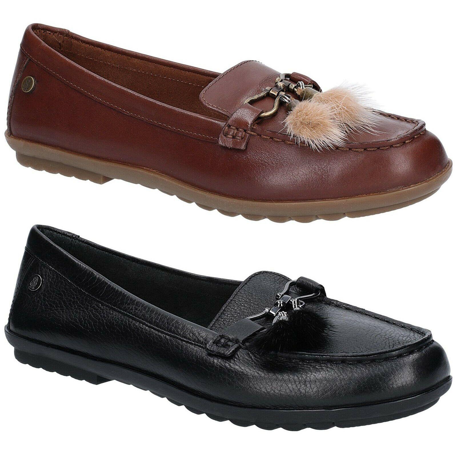 Hush Puppies Aidi Puff Clasico Mocasines Mujer Zapatos De Piel Sin