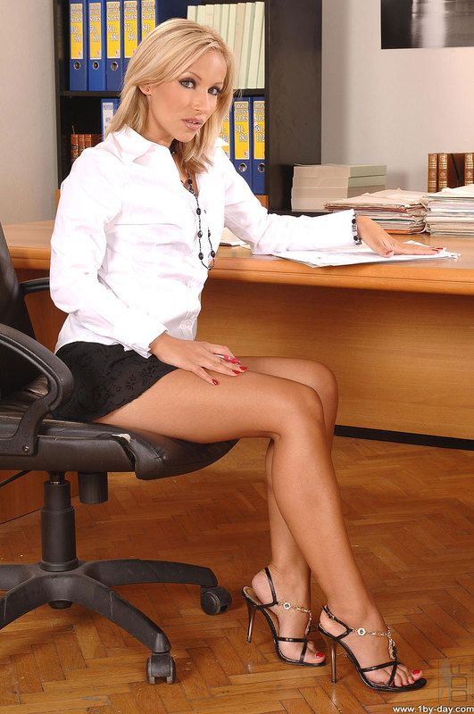 secretary in short skirts