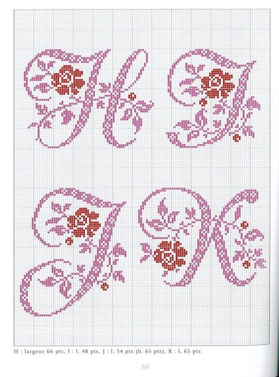 Gallery Ru Foto 40 Belles Lettres Au Point De Croix Moimeme1