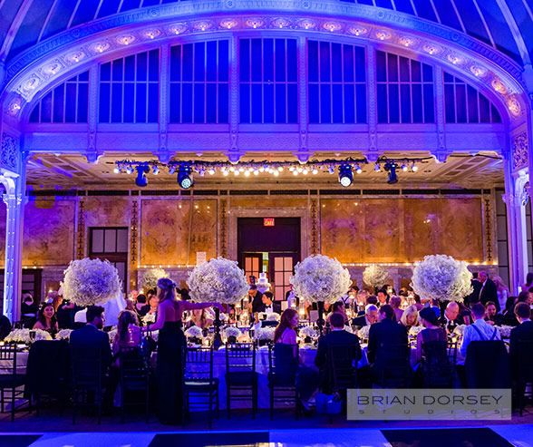 Wedding Decorations Venues NYC Public Library Floral Arrangements Babys Breath