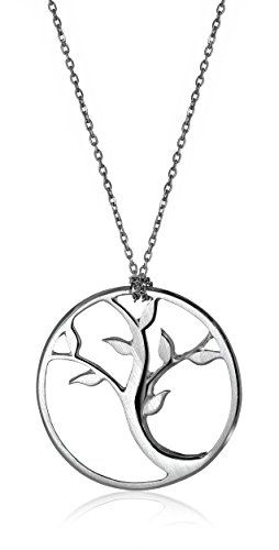 """Alex Woo """"Tree of Life"""" Sterling Silver Small Pendant Necklace, 18"""""""