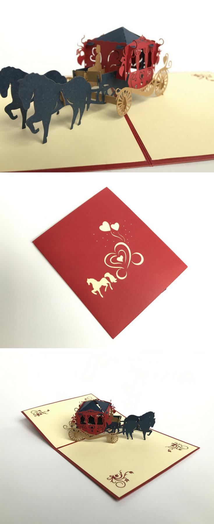Carriage Blue Pop Up Card | Wedding Day | Pinterest | Wedding card ...