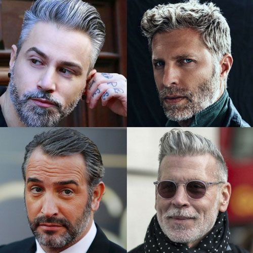 Männer Mit Silbernen Haaren Graue Haare Männer Frisuren