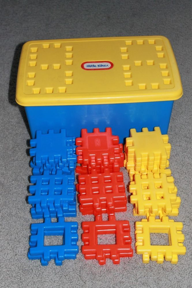Little Tikes 36 Primary Colors Wee Waffle Building Blocks Set ...