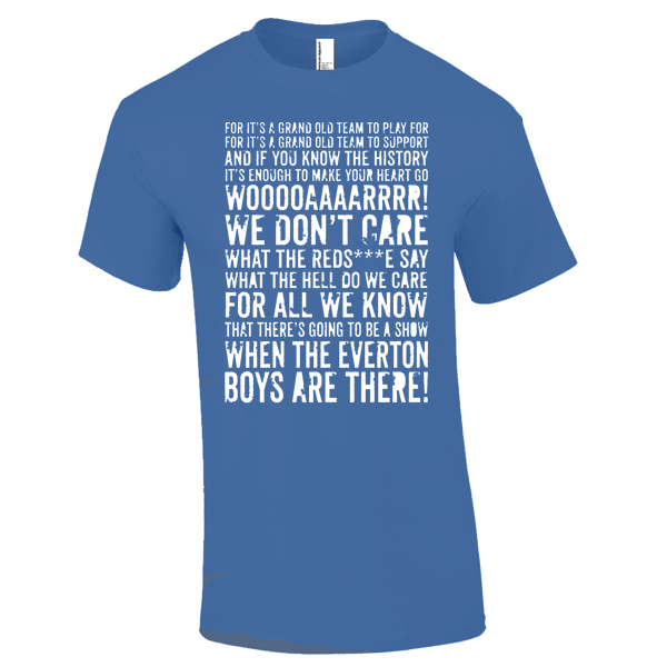 Everton Fan Chant T-Shirt (Royal Blue)