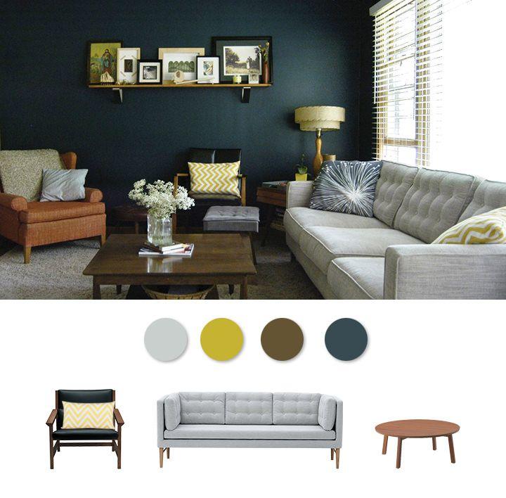 Wohnzimmer im modernen Mid Century Soft Glam Stil -   wwwmy - moderne wohnzimmer couch
