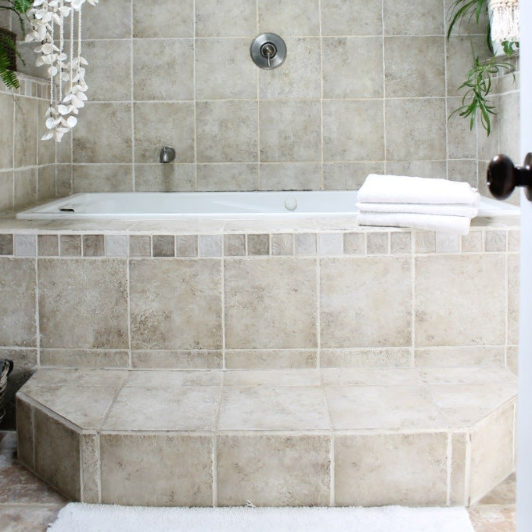 A step-up bathtub is a great way to add a sense of spa-like luxury ...
