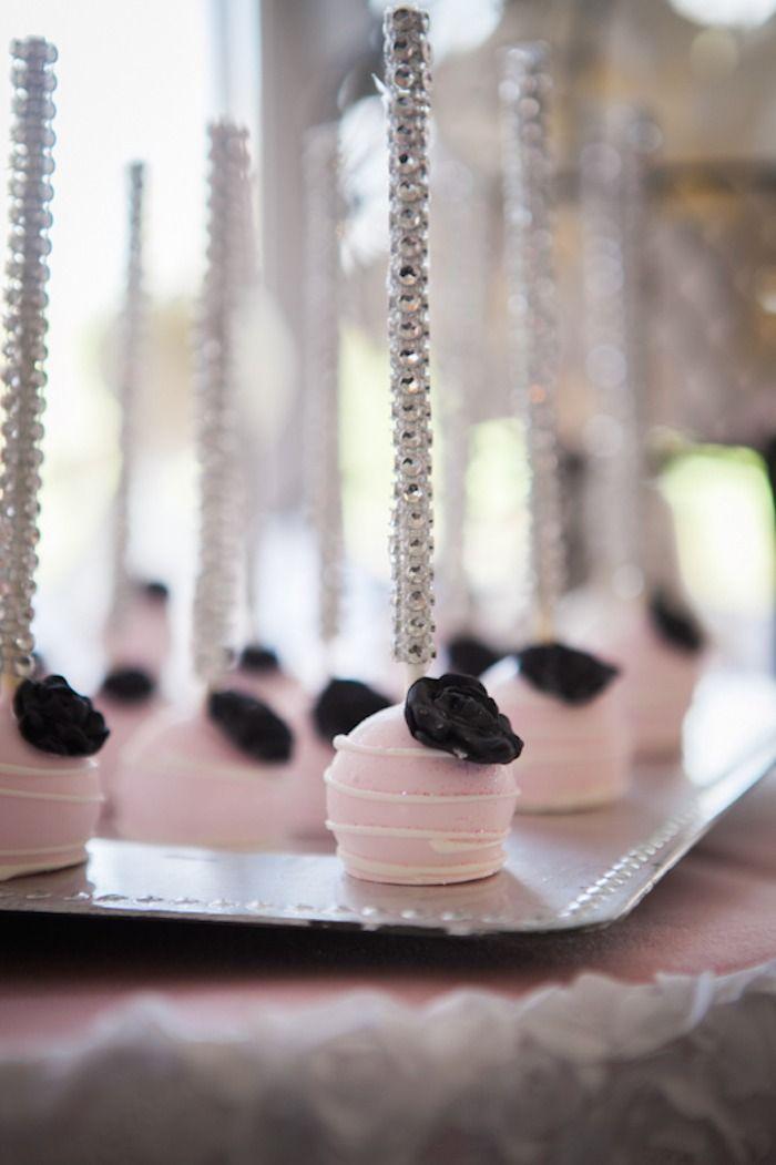 Pink Paris Themed Baby Shower Cake Pops Pinterest Pink Paris