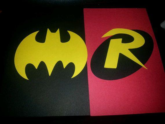 Batman and Robin Party invitations set of 12 Batman by JazzyBug