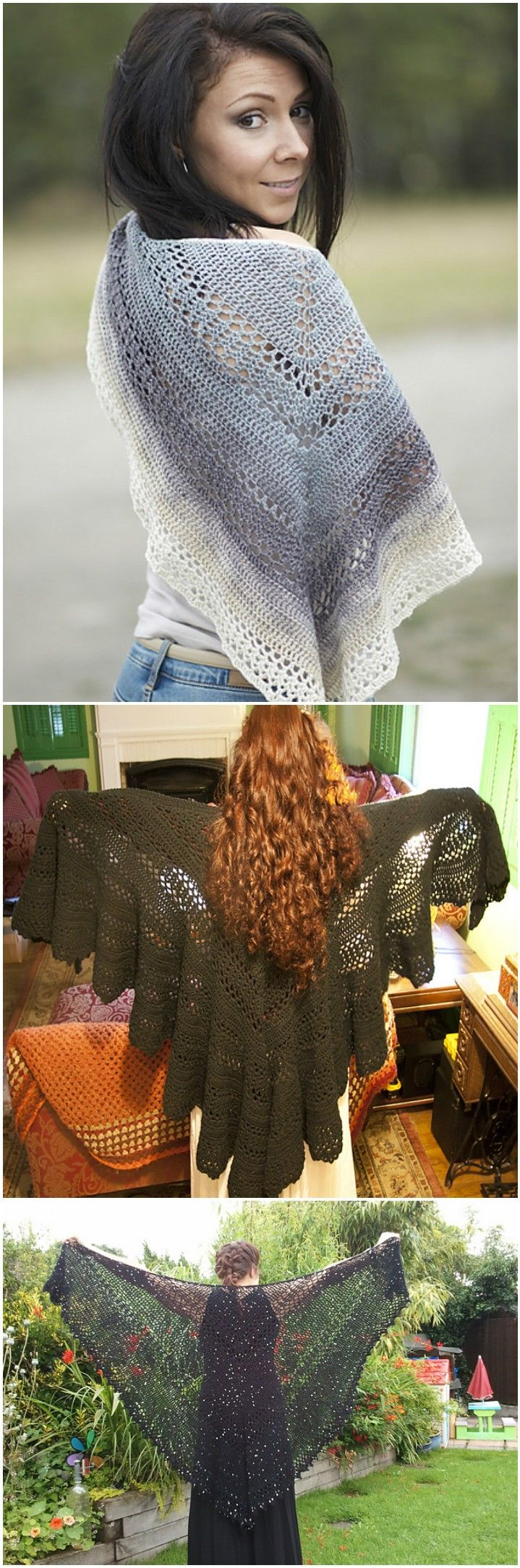 100 Free Crochet Shawl Patterns - Free Crochet Patterns   Crochet ...