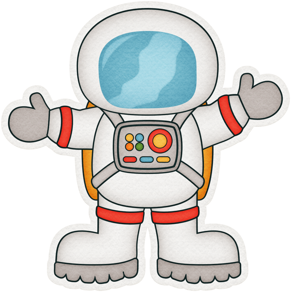 retro astronaut clip art - 840×882