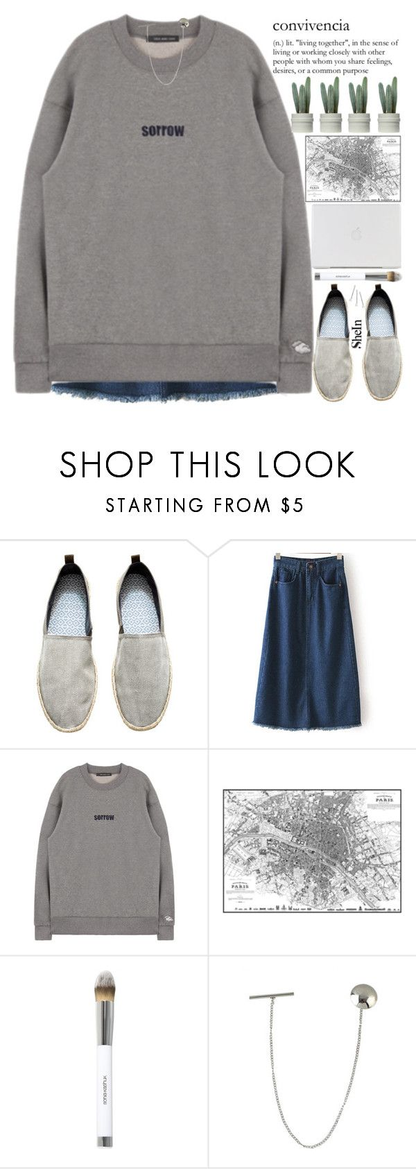 """""""you are bigger than what is making you sad."""" by alienbabs ❤ liked on Polyvore featuring H&M, Sonia Kashuk, Conair, clean, organized and shein"""