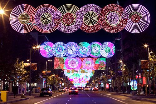 Find christmas lights galore on big city streets like calle serrano in madrid malaysia stuff - Calle serrano 55 madrid ...