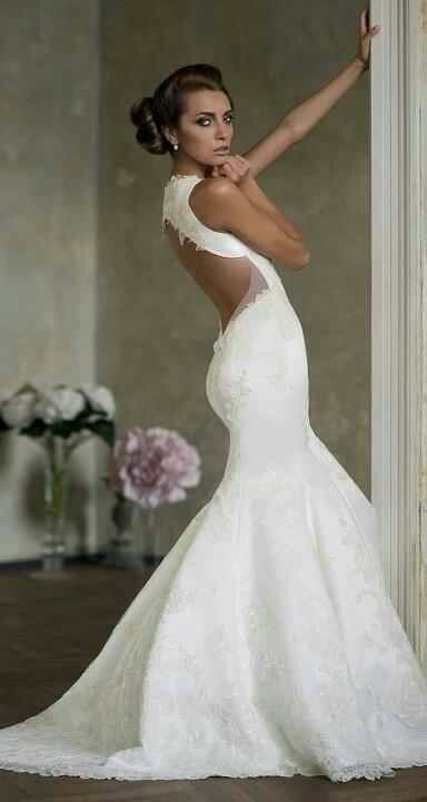 Form-Fitting Backless Wedding Dresses
