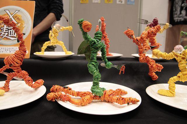Spaghetti warrior figurines スパゲッティ戦士の置物, Design Festa